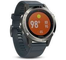 Orë SMART GARMIN fenix5 silver Optic, i kaltër