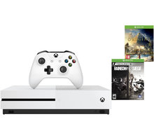 Konzolë XBOX ONE S, 1TB, + Assassins Creed: Origins dhe Rainbow Six: Siege, i bardhë
