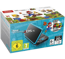 Konzolë Nintendo New 2DS XL, zezë/kaltër+ Super Mario 3D Land