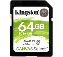 Kartë memorie Kingston SDXC Canvas Select, 64GB, 80MB/s UHS-I