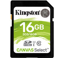 Kartë memorie Kingston SDHC Canvas Select, 16GB, 80MB/s UHS-I