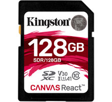 Kartë e memories Kingston SDXC Canvas React 128GB 80MB/s UHS-I