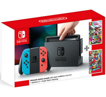 Konzolë Nintendo Switch, + Splatoon 2 + Super Mario Odyssey