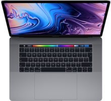Apple MacBook Pro 15 Touch Bar, Intel Core i7, 2.6 GHz, 512 GB, e hirtë (2018)