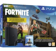 Konzolë PlayStation 4 Slim, 500GB, i zi + Videolojë Fortnite